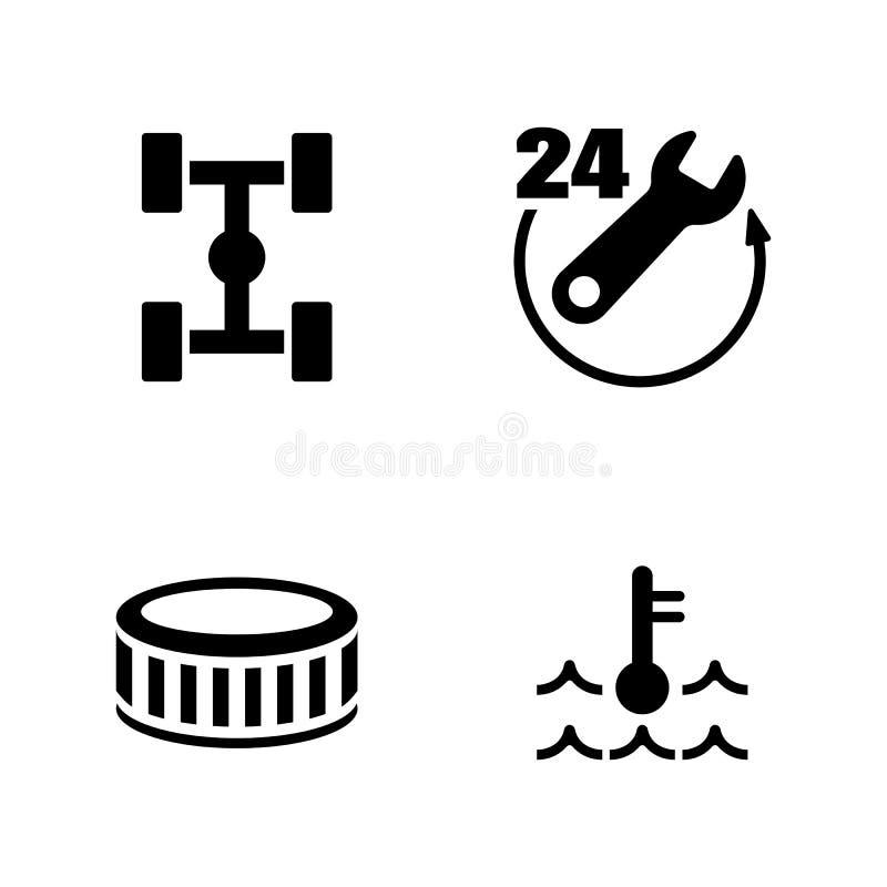 Servicio del coche Iconos relacionados simples del vector libre illustration
