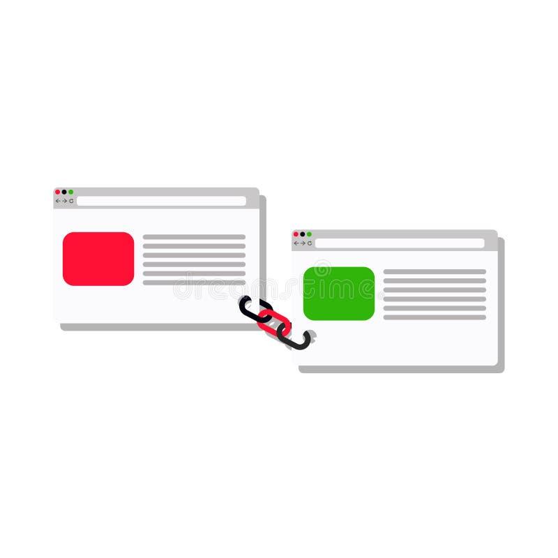 Servicio del edificio del vínculo - negocio del vínculo plano ilustración del vector