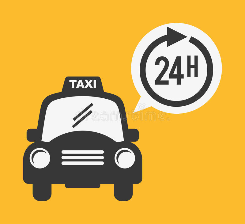 Servicio del taxi stock de ilustración
