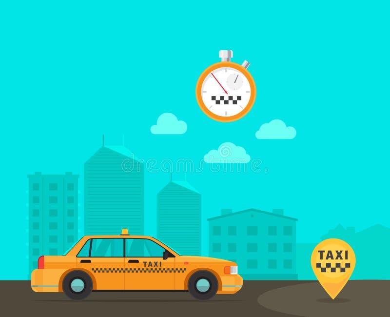 Servicio del transporte del taxi de la velocidad libre illustration