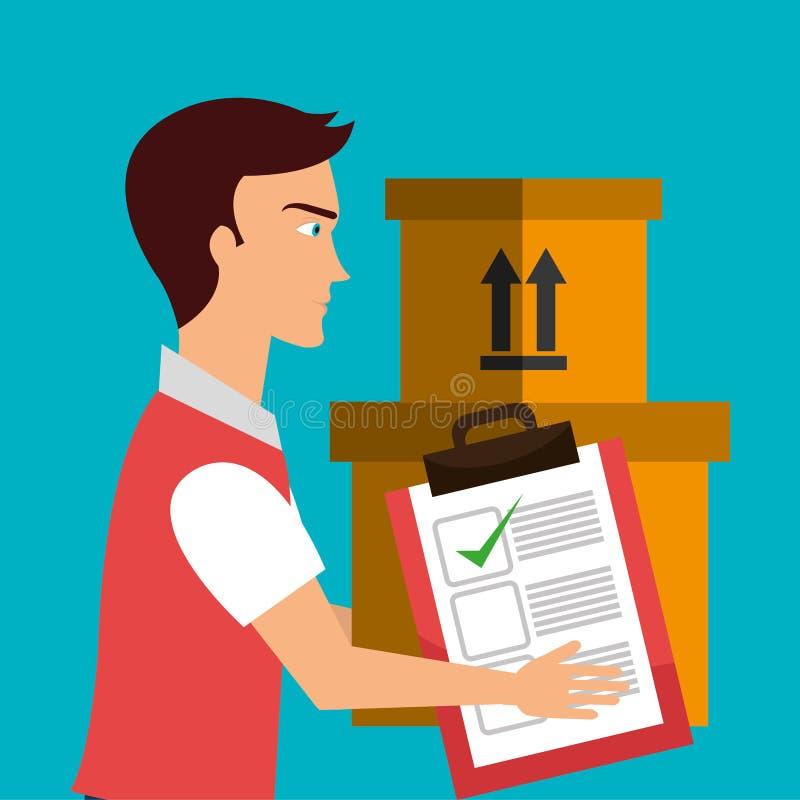 Servicio logístico stock de ilustración