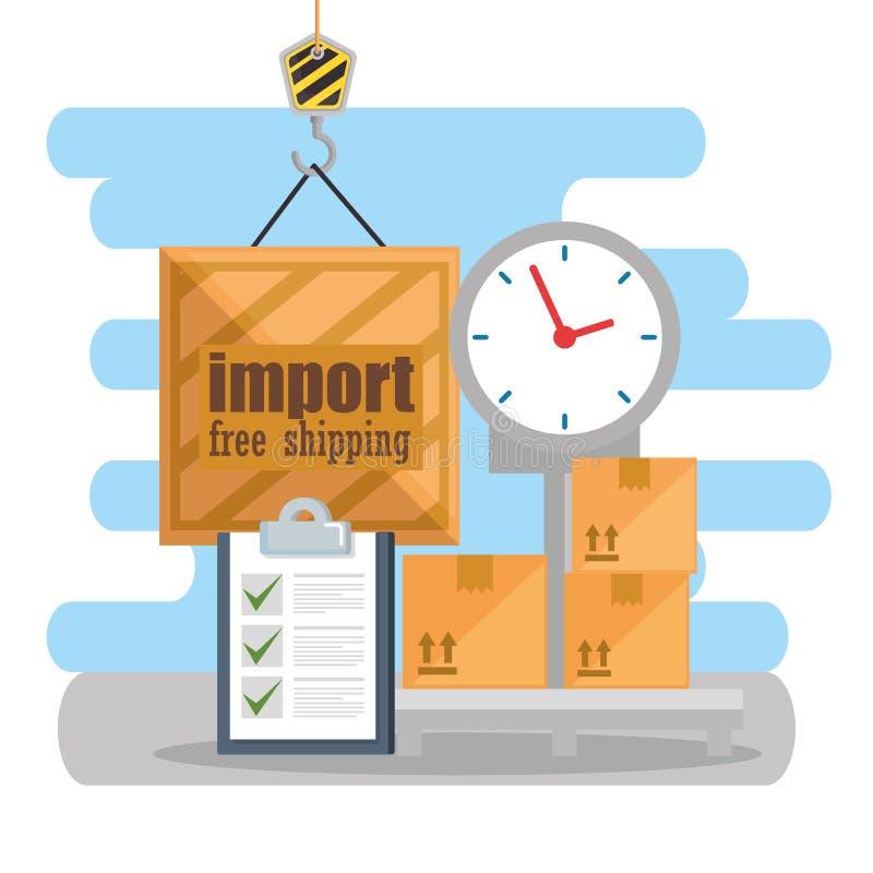 Servicio logístico de la balanza de la escala libre illustration