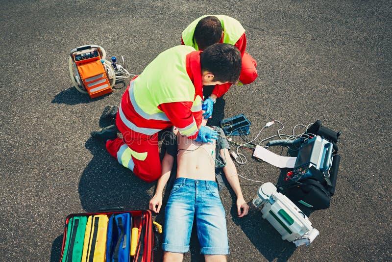 Servicio médico de la emergencia fotografía de archivo