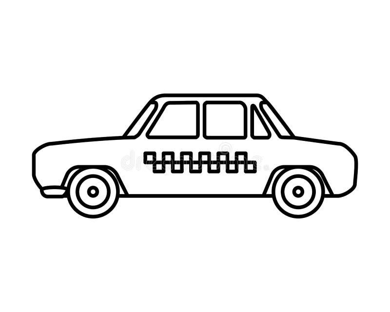 Servicio público del coche del taxi stock de ilustración