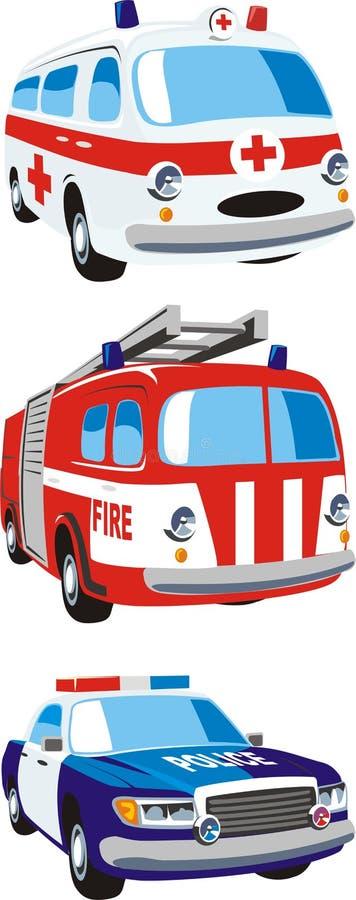 Servicios de emergencia stock de ilustración
