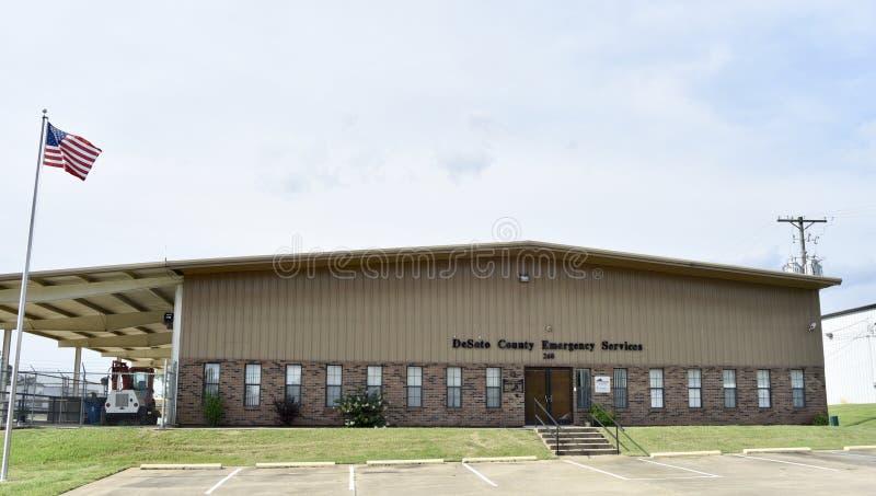 Servicios de emergencia del condado de Desoto, Hernando, Mississippi imagen de archivo