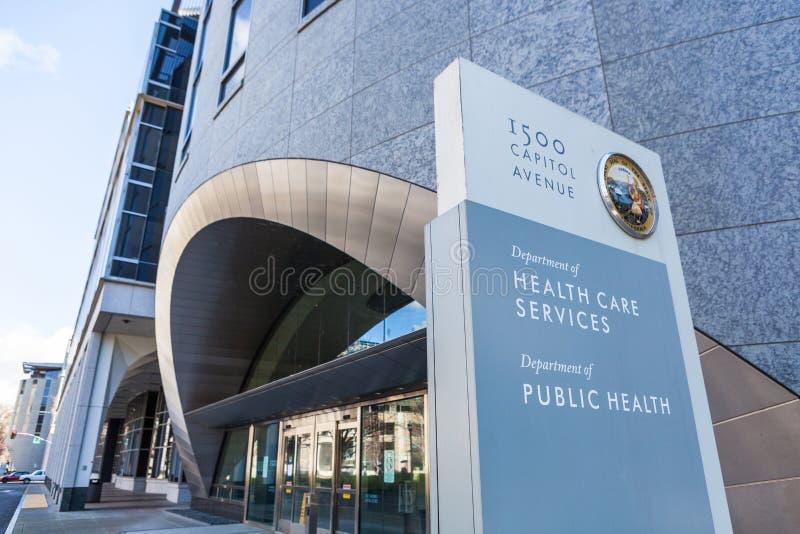 Servicios de la atención sanitaria de California y salud pública imagen de archivo libre de regalías
