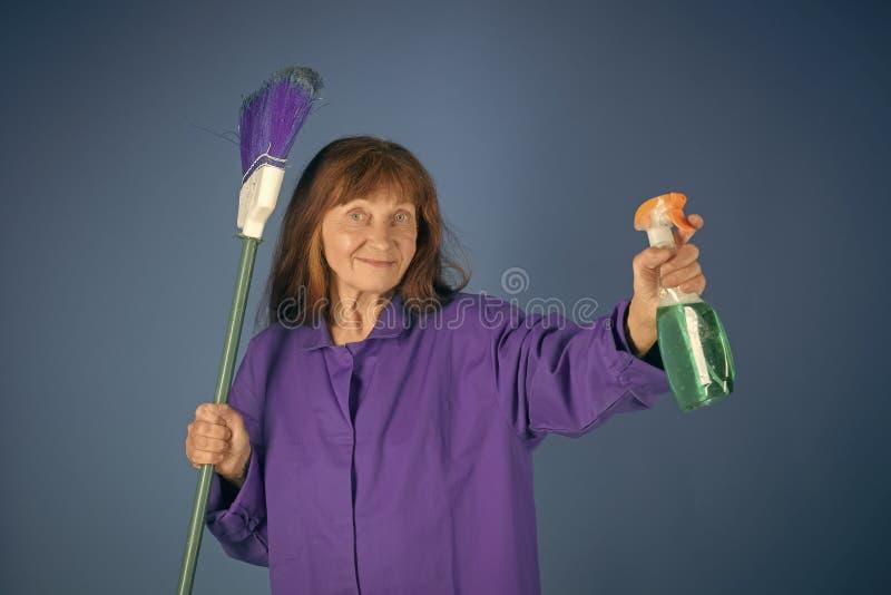 Servicios de la limpieza Limpieza y pureza foto de archivo