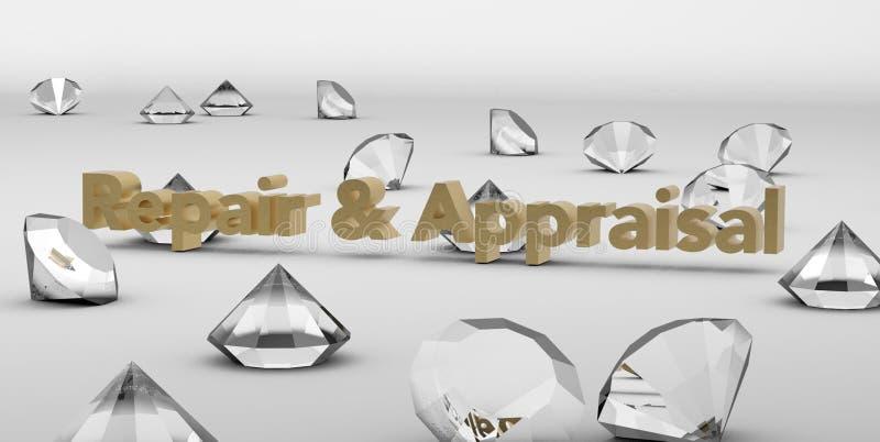 Servicios de la reparación y de la valoración del diamante libre illustration