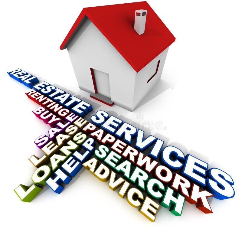Servicios de las propiedades inmobiliarias ilustración del vector