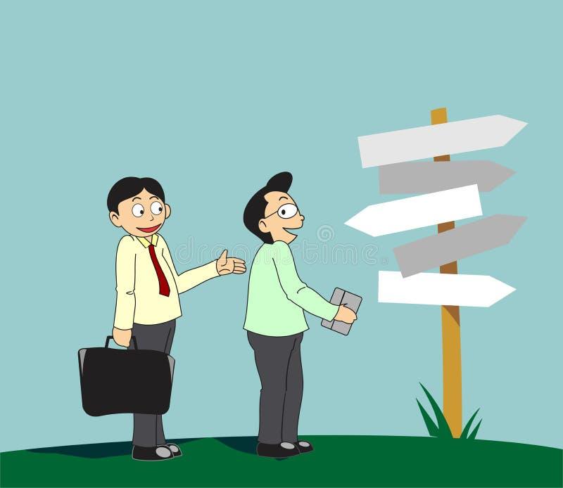 Servicios de ofrecimiento del consultor ilustración del vector