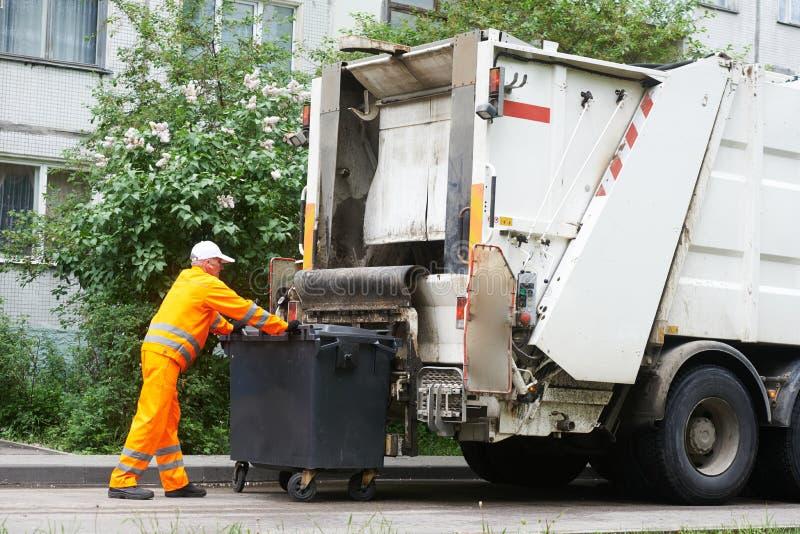 Servicios de reciclaje urbanos de la basura y de la basura imagen de archivo libre de regalías