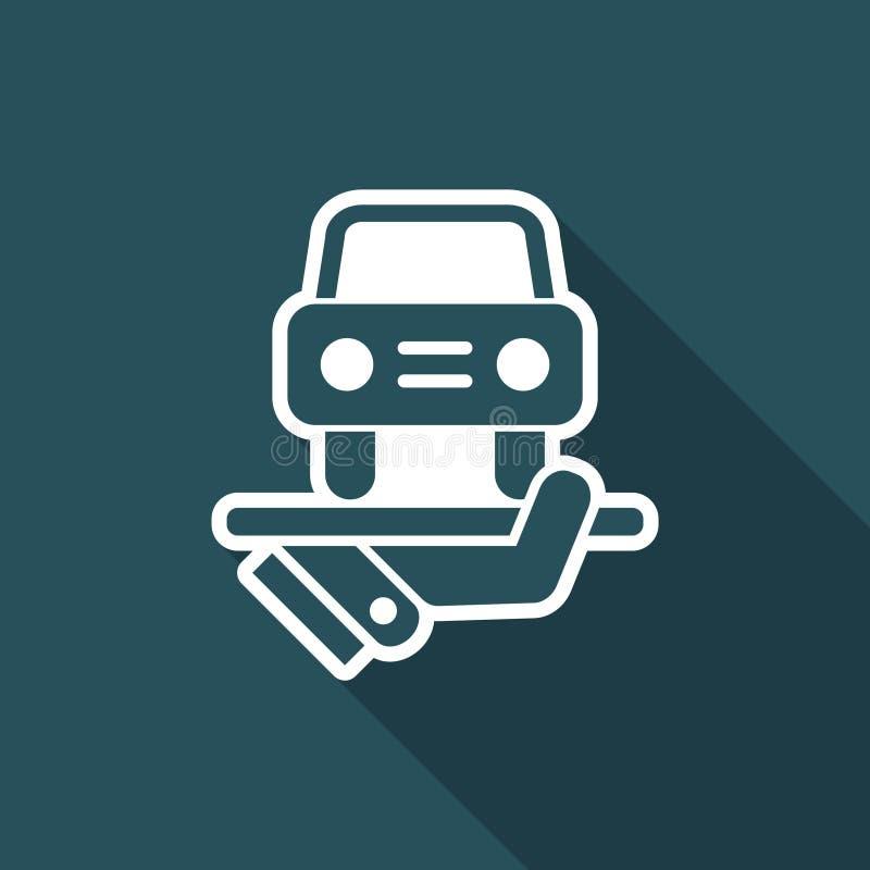 Servicios del coche ilustración del vector