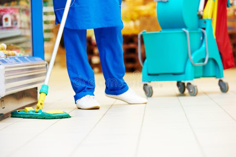 Servicios del cuidado y de la limpieza del piso foto de archivo
