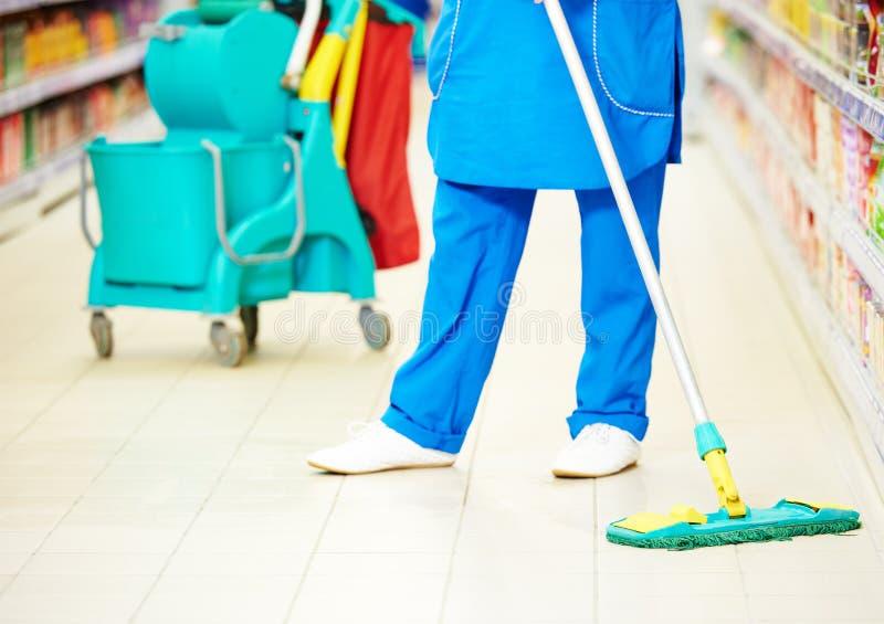 Servicios del cuidado y de la limpieza del piso imagen de archivo libre de regalías