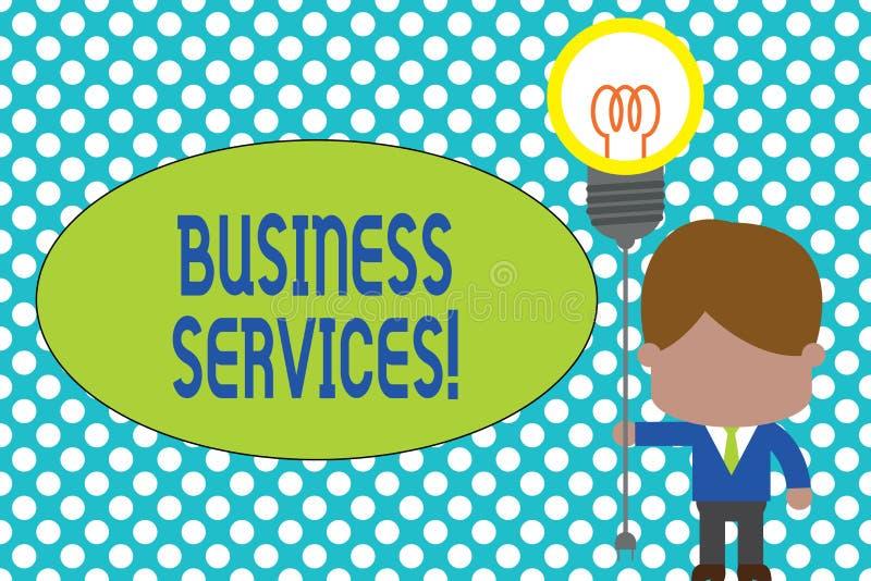 Servicios a empresas del texto de la escritura de la palabra Concepto del negocio para la contabilidad intangible de la contabili libre illustration