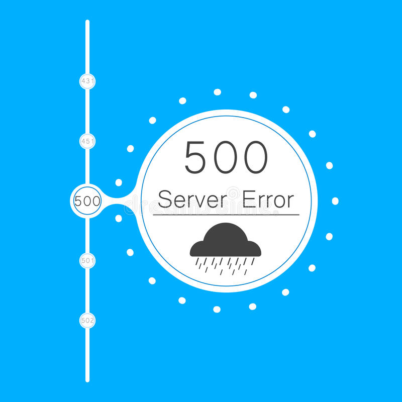 Servidor abstracto del error de la conexión del fondo 500 de los vectores stock de ilustración