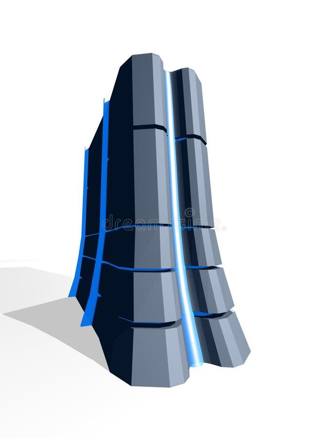 Servidor con el vidrio azul libre illustration