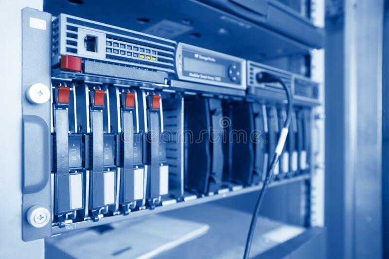 Servidor del almacenaje de Datacenter imagen de archivo libre de regalías