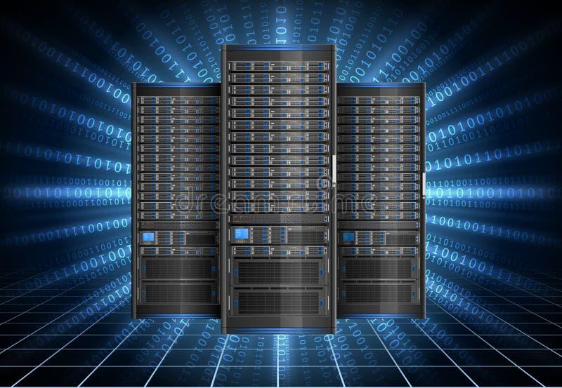 Servidor en ciberespacio stock de ilustración
