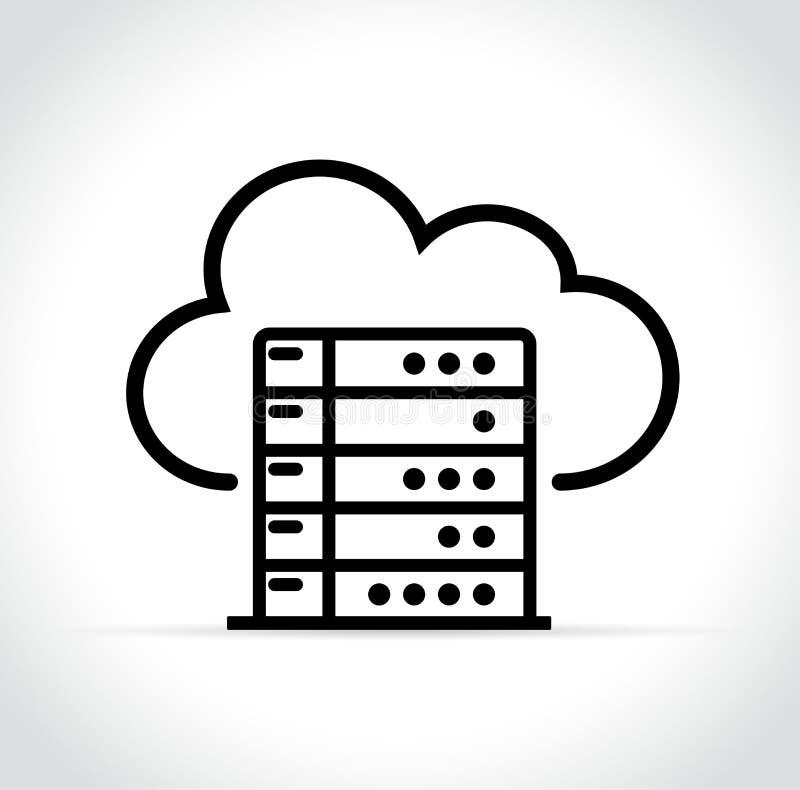 Servidor en concepto del icono de la nube libre illustration