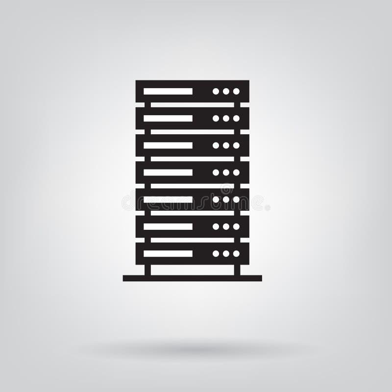 Servidor, icono del centro de datos libre illustration