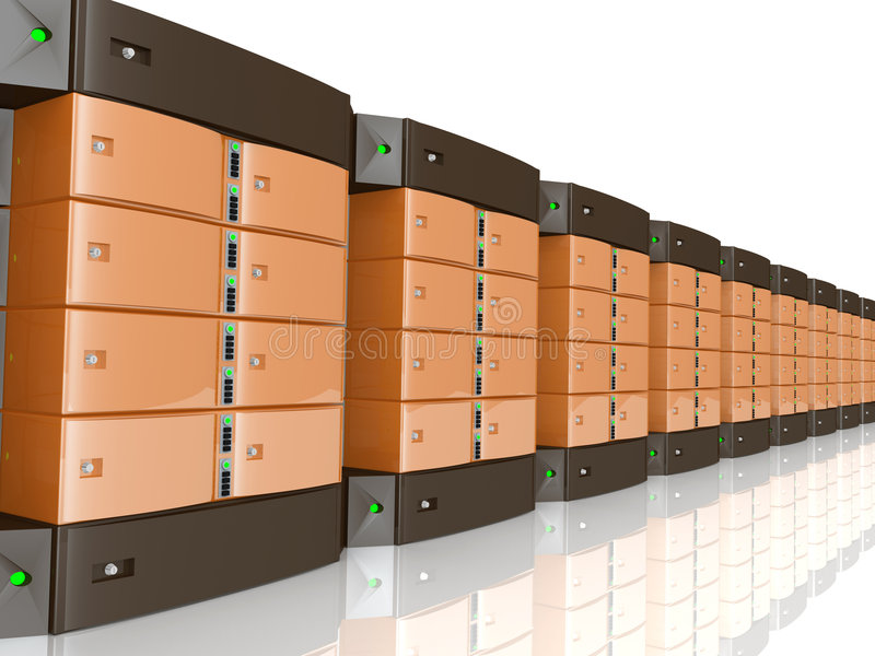 servidores 3d stock de ilustración