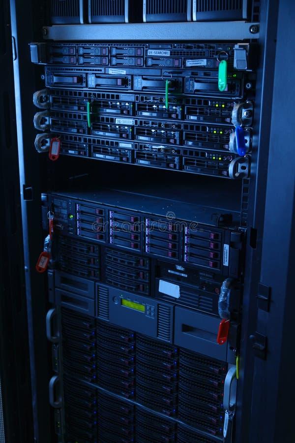 Servidores de red en sitio nacional del sitio de los datos imagen de archivo libre de regalías