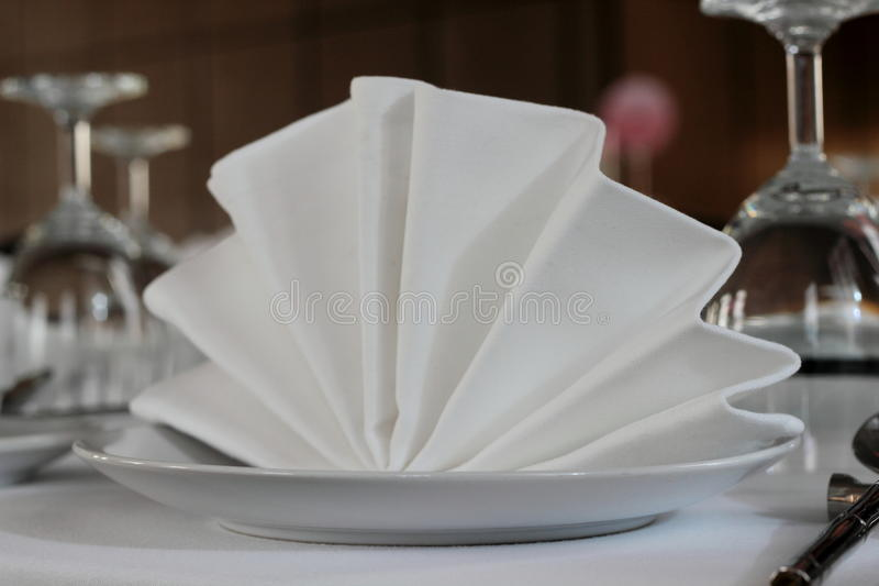 Serviette blanche photo libre de droits