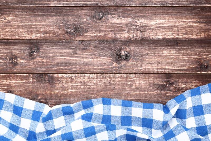 Serviette bleue images stock