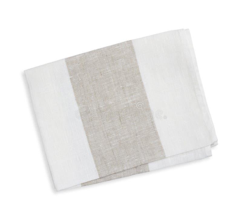 Serviette de cuisine de coton d'isolement sur le fond blanc photographie stock