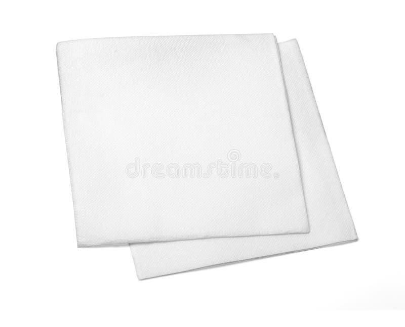 Serviette de papier blanc photo stock