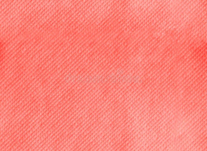 Serviette de papier gravant la texture en refief sans couture Fond de corail vivant de couleur Couleur de l'ann?e 2019 Concept pr photos stock