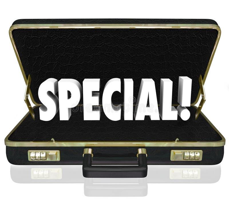Serviette de présentation d'affaires de proposition d'offre spéciale illustration stock