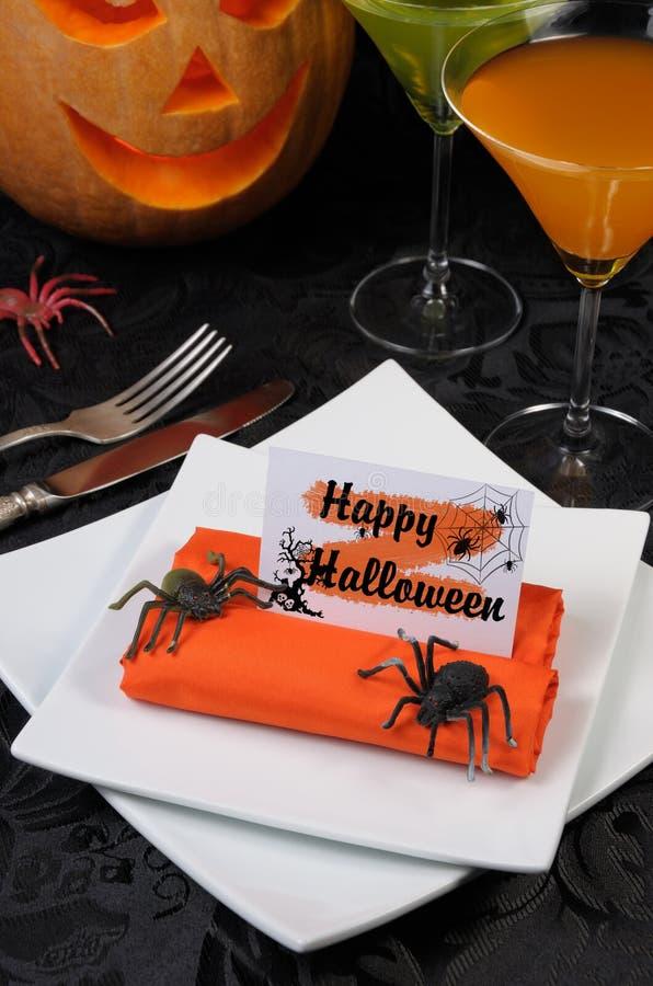 Serviette Halloween lizenzfreies stockbild