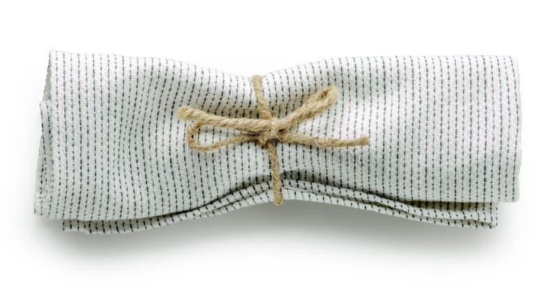 Serviette pliée de coton image stock