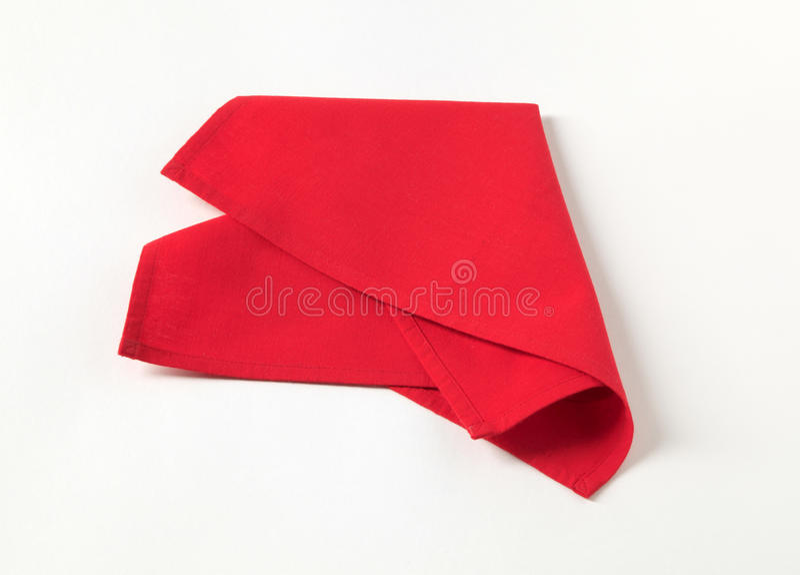 Serviette rouge photographie stock