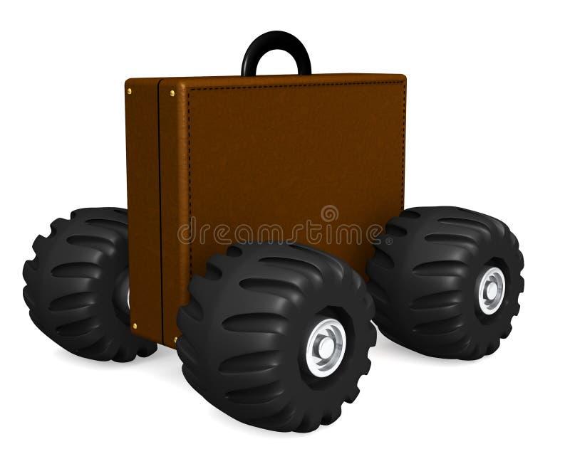 Serviette sur des roues illustration de vecteur