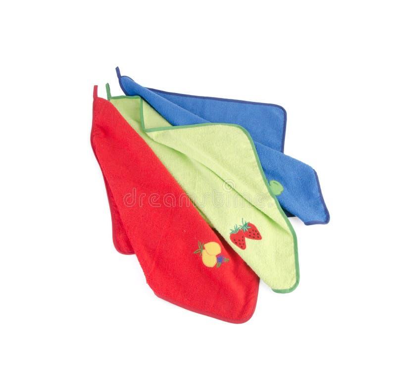 Serviette, serviette sur le fond images stock
