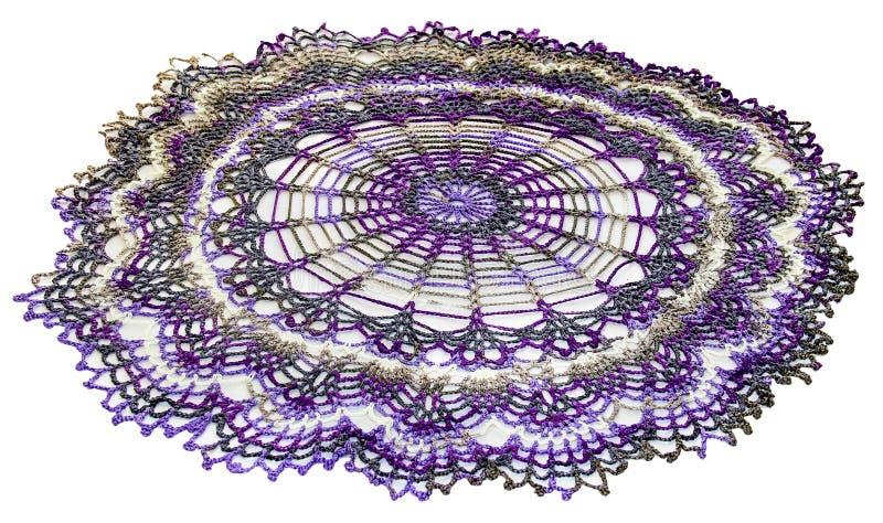 Serviette tricotée par vintage photos stock