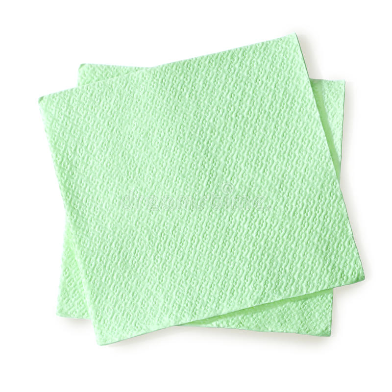 Serviette verte photographie stock