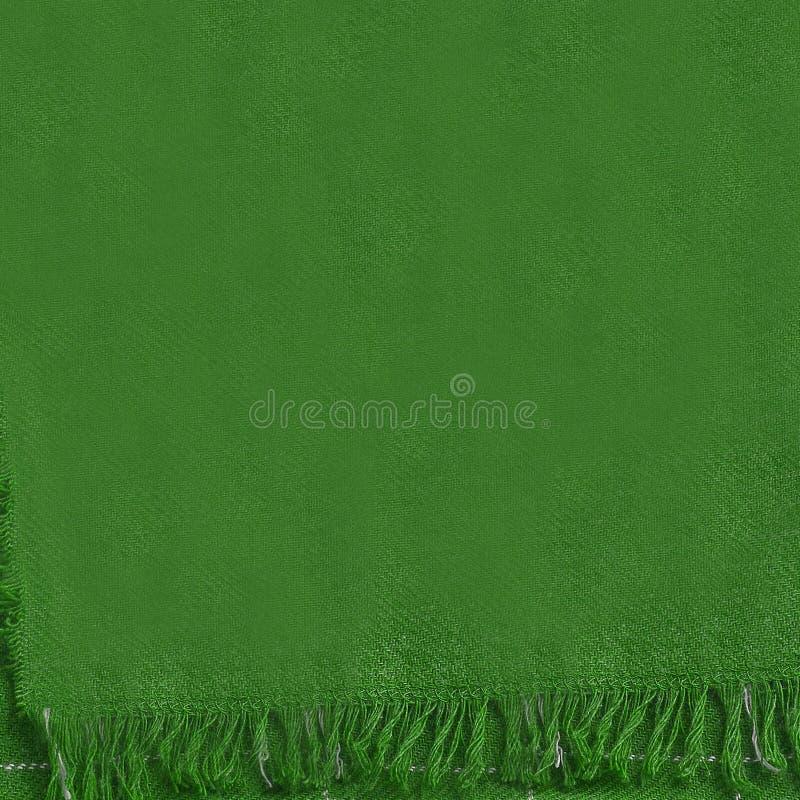 Serviette verte de textile photographie stock