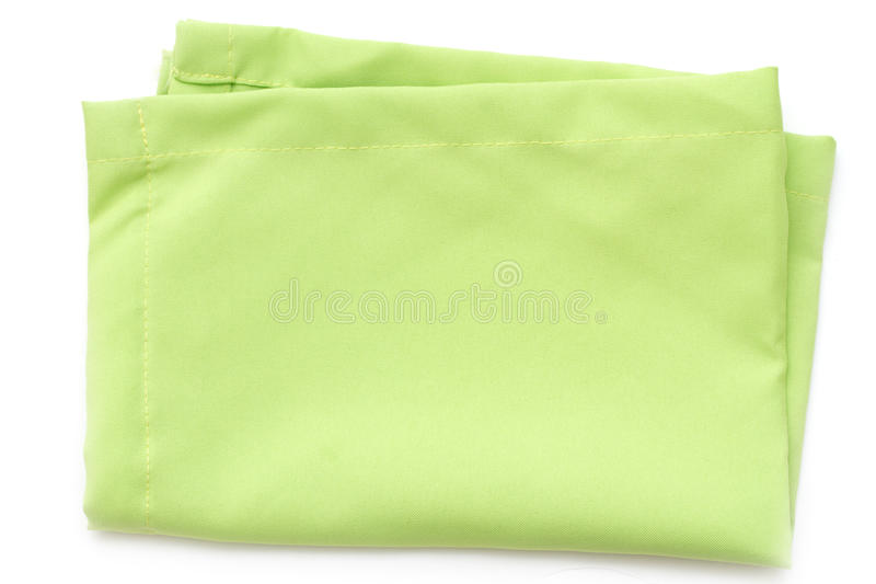 Serviette verte sur le fond blanc photo stock