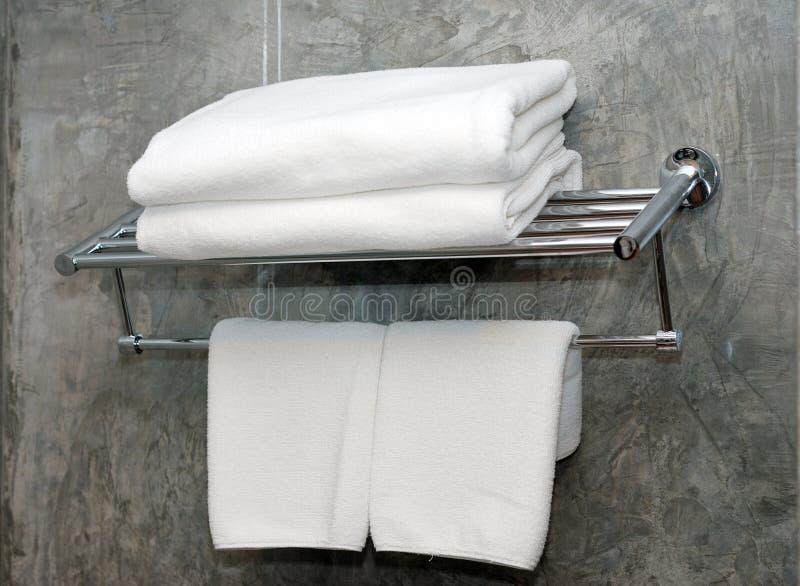 Serviettes blanches photo libre de droits