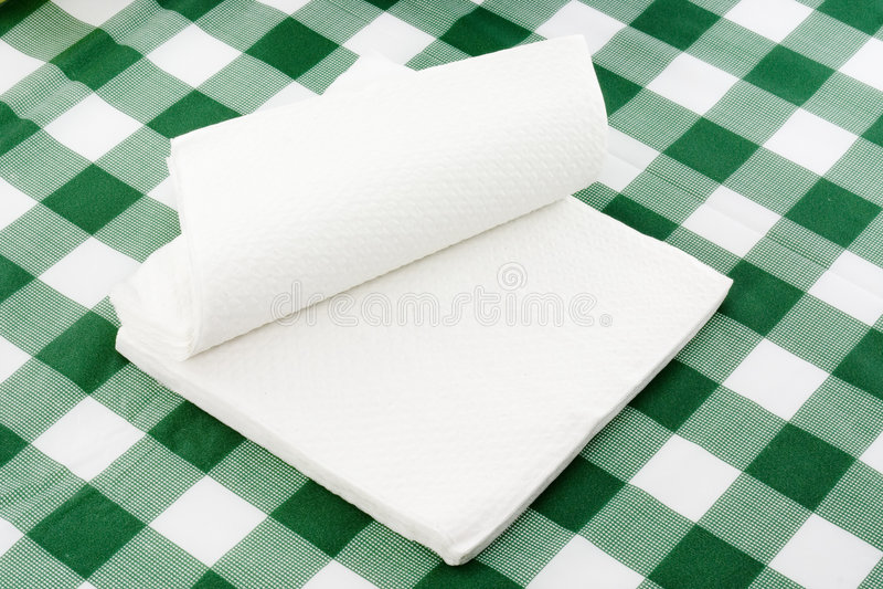 Serviettes de papier photos stock