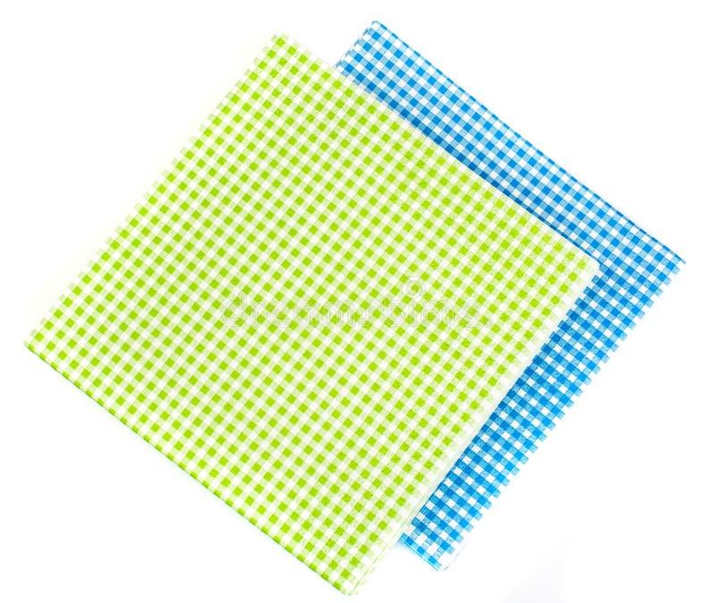 Serviettes de papier jetables servantes d'isolement sur le fond blanc photographie stock libre de droits