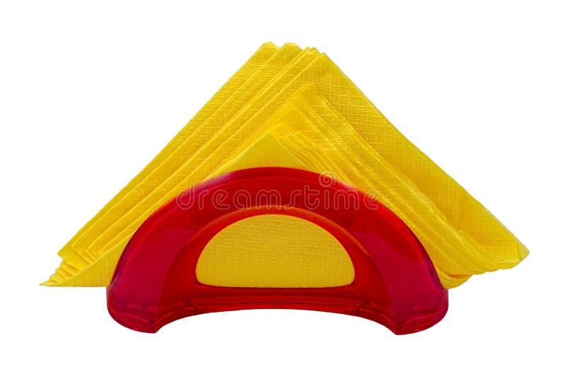 Serviettes na stojaku, odosobnionym zdjęcia royalty free
