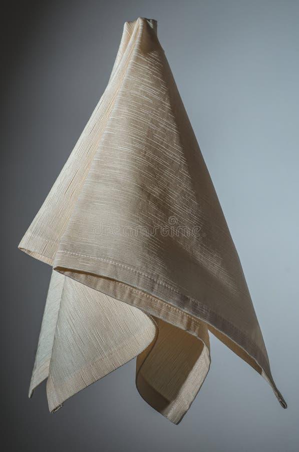 Servilleta del beige del algodón foto de archivo libre de regalías