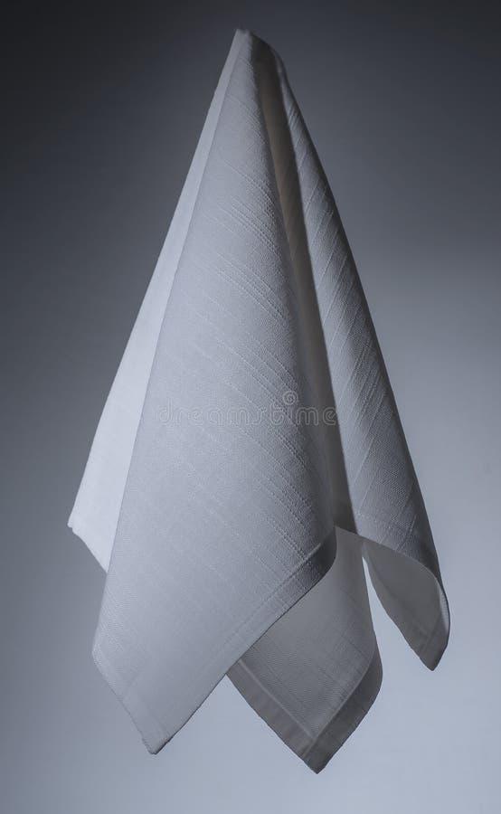 Servilleta del blanco del algodón fotografía de archivo libre de regalías