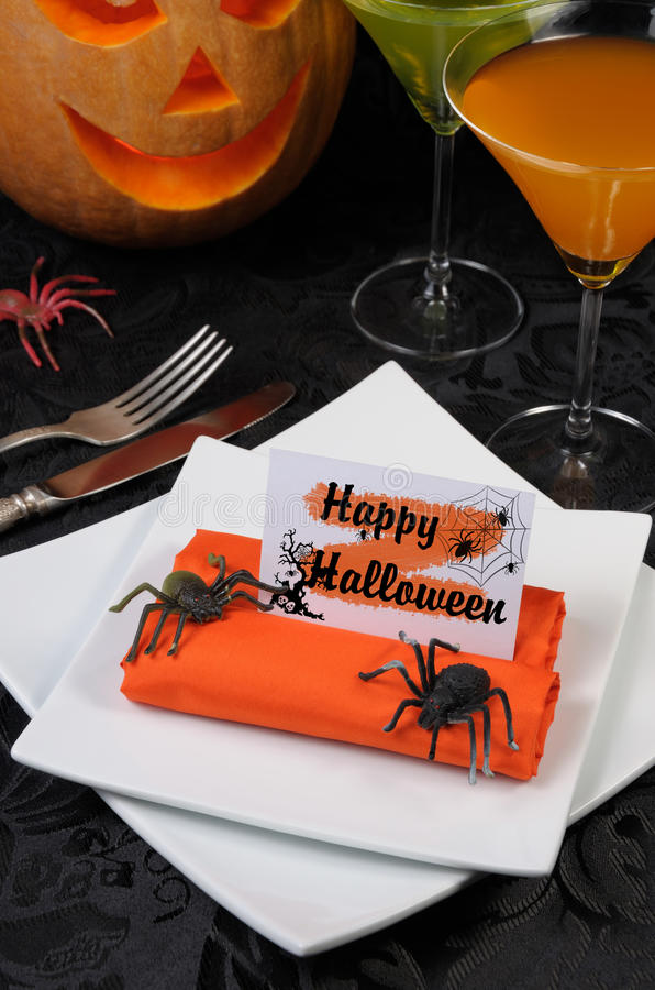 Servilleta Halloween imagen de archivo libre de regalías